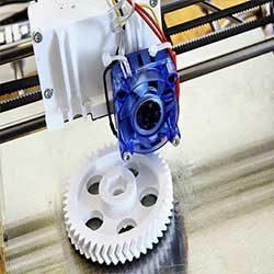 Pembuatan spare part dengan bentuk yang kompleks dapat dilakukan dengan mesin 3D printing. dimulai dari pembuatan 3D model dan proses slicing. dilanjutkan dengan mencetak di mesin 3D printer