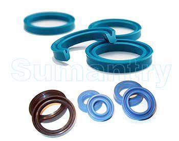 Seal pada sistem hirolik (media Minyak) dan penumatik (media Gas) digunakan untuk mencegah kecocoran dari suatu sistem yang bergerak secara resiprokal (naik/turun, kanan/kiri). Setidaknya karet seal hidrolik dan penumatik dapat dikelompokan menjadi 4 jenis, yaitu Piston seal (berada pada Piston), Rod Seal (berada pada Housing), Guide Ring (untuk menghindari gesekan antara piston dgn silinder), dan Dust Seal (untuk mencegak masuknya kotoran pada sistem).